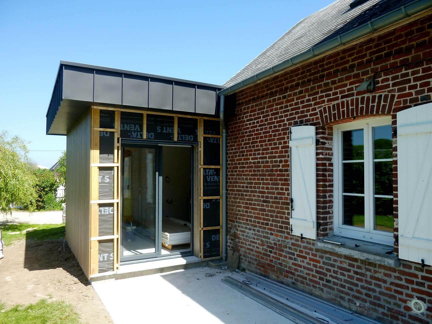 Extension d'une maison dans l'Eure